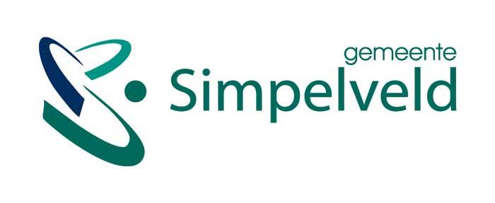 Simpelveld logo white
